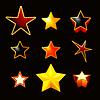 Sterne auf schwarzem, eingestellt