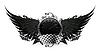 Flügel Schwarz, Racing Emblem