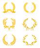 Goldener Kranz-Set,