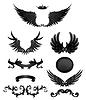 Design-Elemente mit Flügeln, hochwertige 10eps