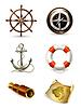 Morskie zestaw, wysokiej jakości ikony 10eps   Stock Vector Graphics