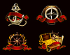 Marine-Emblem auf schwarz, 10eps eingestellt