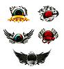 Set Renn-Embleme