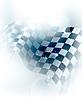 Blau karierten Hintergrund