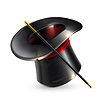 ID 3776758 | Magische Zylinder-Hut | Stock Vektorgrafik | CLIPARTO
