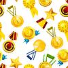 Goldmedaillen, nahtlose Muster