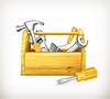 Hölzerner Werkzeugkasten
