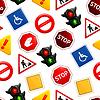 Verkehrszeichen, nahtlose Muster