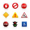Set von Verkehrszeichen