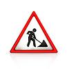 Straßenarbeiten Zeichen