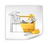 Werkzeugkasten Zeichnung