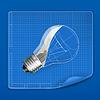 Lampe Zeichnung Blaupause