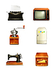 ID 3778339 | Retro-Icon-Set | Stock Vektorgrafik | CLIPARTO
