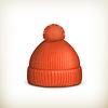 Gestrickte roten Kappe