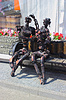 Iron guy and girl robots in love | Stock Foto