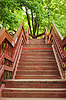 Holztreppe in Kolomenskoye | Stock Foto