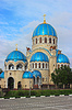 Kirche der Heiligen Dreifaltigkeit in Orechowo-Borisowo | Stock Foto