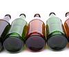 Flaschen liegend in Reihe | Stock Foto