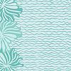 Meer, Wellen und Blumen