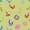 nahtlose Hintergrund mit Schuhen