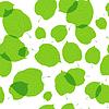 Nahtlose Muster aus grünen Blättern auf weißem Hintergrund