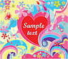 Colorful valentine poster   Stock Vector Graphics