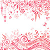 Beautiful greeting pink background   Stock Vector Graphics