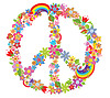 Peace flower symbol   Stock Vector Graphics