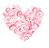 Beautiful floral heart   Stock Vector Graphics