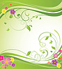 Summery floral banner   Stock Vector Graphics