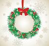 Xmas wreath   Stock Vector Graphics