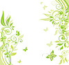 Green spring banner | Stock Vector Graphics