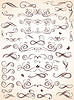 Collection of vintage borders   Stock Vector Graphics