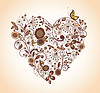 Vintage floral heart | Stock Vector Graphics