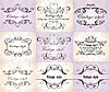 Vintage wedding frames   Stock Vector Graphics
