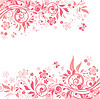 Pink floral background | Stock Vector Graphics