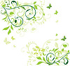 Green floral banner   Stock Vector Graphics