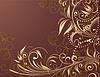 Floral gold Hintergrund | Stock Vektrografik