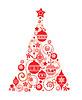 Red Weihnachtsbaum