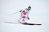 Kathrin Zettel konkurriert in der FIS Alpine Ski Worl | Stock Foto