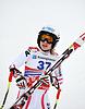 Nicole Schmidhofer konkurriert in der FIS Alpine Ski | Stock Foto