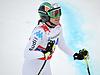 Johanna Schnarf konkurriert in der FIS Alpine Ski Worl | Stock Foto