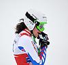 Marion Pellisier konkurriert in der FIS Alpine Ski | Stock Foto