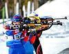 Andrey Turgenev und andere Sportler konkurriert im IBU | Stock Foto