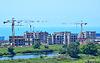 Bau von Hotels in Main Olympischen Dorf auf | Stock Foto