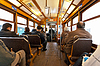 Photo 300 DPI: Interior of Lisbon tram with passengers