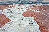 ID 3896489 | Stara mapa świata w Belém, Lizbona | Foto stockowe wysokiej rozdzielczości | KLIPARTO