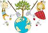 Kinder Plant for Planet | Stock Vektrografik