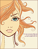 Lockige Mädchen | Stock Vektrografik