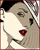 Femininen Look | Stock Vektrografik